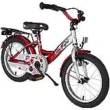 BIKESTAR® Premium Vélo pour enfants à partir d'env. 4-5 ★ Edition Classic 16 ★ Couleur Argent & Rouge