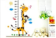 ANBANA ? Growth Chart Giraffe Monkey Height Chart Vinly Wall Art Decal Stickers for Nursery Room Girls and Boys Children's Bedroom(Giraffe & Monkey)