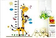 ANBANA ? Growth Chart Giraffe Monkey Height Chart Vinly Wall Art Decal Stickers for Nursery Room Girls and Boys Children's Bedroom(Giraffe & Monkey)