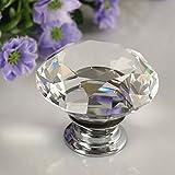 yuyikes-30-mm-12-Diamant-Form-Kristall-Glas-Schublade-Griff-Knopf-Pull-USD-fr-Schublade-Brust-Bin-Kommode-Schrank-Diamant-12PCS-Transparent