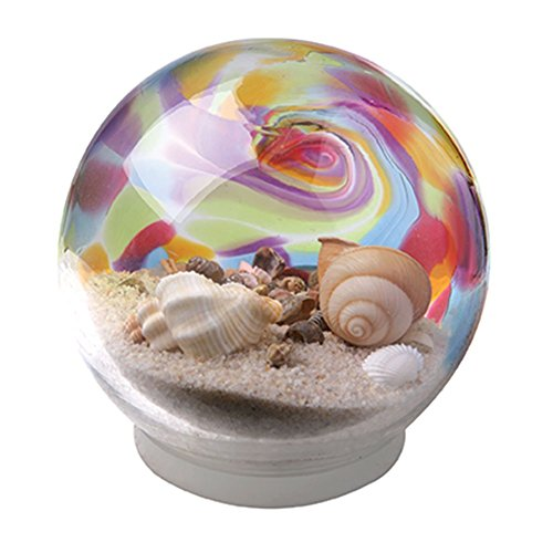Rainbow Seashell Water Snow Globe