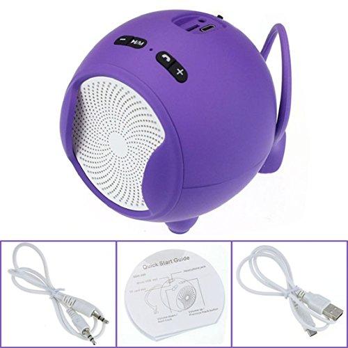 Towallmark(Tm)Portable Wireless Bluetooth Handsfree Mic Super Bass Mini Speaker (Purple)