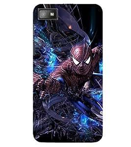 Evaluze superhero Printed Back Case Cover for BLACKBERRY Z10