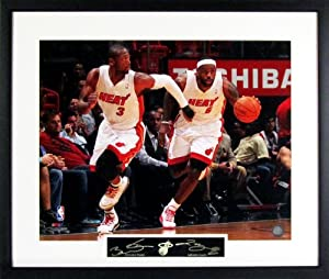 LeBron James & Dwyane Wade Fastbreak 16x20 Photograph (SGA Signature Series)... by Sports Gallery Authenticated
