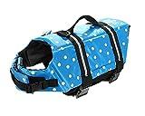 KUU Cute Blue Wave Dog Life Jacket Doggy Life Vest Coat-Small