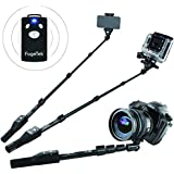 "[2015 Professional Selfie Stick New Release] - Best Bluetooth Selfie Stick with Remote - FugeTek Pro 3-in-1 Weather Resistant Self-Portrait Monopod - High Purity Aluminum Alloy Pole Extendable to 49"" - Removable Bluetooth Shutter - Non-Slip Rubber Handle - Premium Universal Phone Mount for iPhone 6, iPhone 6 Plus, iPhone 4 5 5s 5c, Android, Gopro, Digital Cameras, US Warranty & Support, All Aluminum, High End"