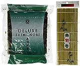 Seaweed Nori for Sushi Making - 50 Full Size Sheets + 1 Sushi Mat