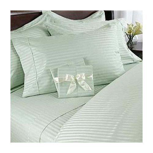300Tc Egyptian Cotton Full Queen Mint Stripe Duvet Cover Set By Marrikas front-1050844