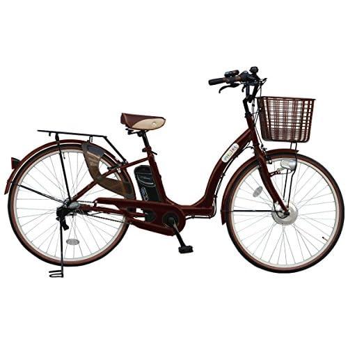 電動アシスト自転車 パステル カラー:ブラウン PASTEL プラス 26インチ 電動自転車 シマノ社製内装3段ギア/クラス27対応リアキャリア/ 型式認定車/TSマーク/AIJYU CYCLE