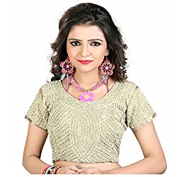 Renishafashion Women's Exclusive Designer Blouse Collection(Gold)