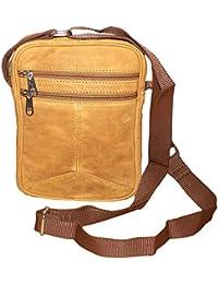 Style98 Tan Premium Quality Genuine Leather Travelller UniSex Sling Bag - Hunter Leather