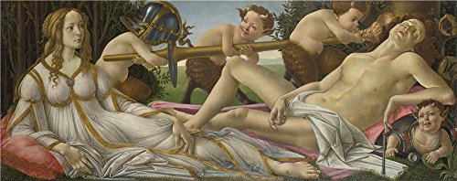Oil Painting 'Sandro Botticelli Venus And Mars ' Printing On Polyster Canvas , 10 X 25 Inch / 25 X 64 Cm ,the Best Nursery Artwork And Home Gallery Art And Gifts Is This Beautiful Art Decorative Canvas Prints