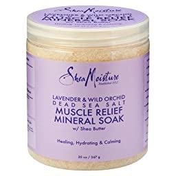 SheaMoisture Lavender & Wild Orchid Dead Sea Salt Muscle Relief Mineral Soak - 20 oz