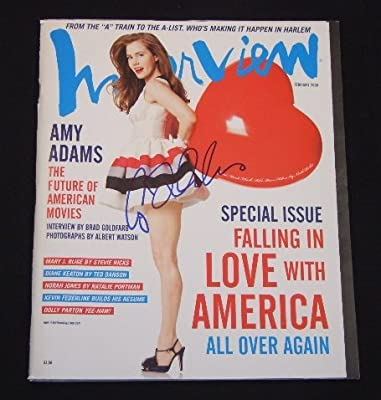 Amy Adams Enchanted Sexy Signed Autographed Interview Fashion Magazine Loa