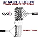 "Qually United® - The Best 2016 Edition 17"" BBQ Grill Brush with 3 Stainless Steel Brushes in 1 - Universal and Perfectly Angled, this Barbecue Grill Brush is a Must-Have Tool for All Barbecue Lovers"