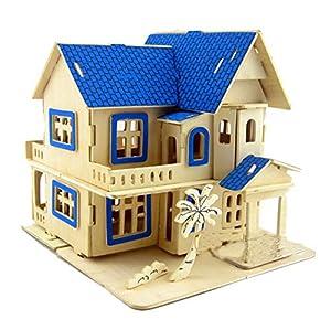XT-XINTE 3D Puzzle en bois Dream House construction jouets éducatifs assemblés à la main bricolage pour enfants
