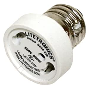 litetronics 58810 medium screw e26 to bi pin gu24. Black Bedroom Furniture Sets. Home Design Ideas