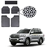 Allure Auto Grey Circle Odourless Car Floor / Foot Mats 5 Pcs Set for Toyota Landcruiser 200