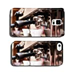 Espresso machine making coffee in pub, bar, restaurant cell phone cover case Samsung S5 made by My-Handy-Design