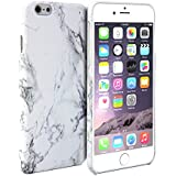 iPhone 6 Plus Case, GMYLE Hard Case Print Crystal for iPhone 6 Plus (5.5 inch Display) - White Marble Pattern Slim Fit Snap On Protective Hard Shell Back Case