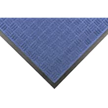"Notrax 167 Portrait Entrance Mat, for Lobbies and Indoor Entranceways, 4' Width x 6' Length x 1/4"" Thickness, Slate Blue"