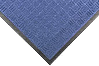 """Notrax 167 Portrait Entrance Mat, for Lobbies and Indoor Entranceways, 4' Width x 6' Length x 1/4"""" Thickness, Slate Blue"""