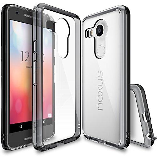 Custodia Nexus 5X 2015, Ringke FUSION [SMOKE BLACK]*Assorbimento urti TPU Goccia Protezione* [Gratuito HD Pellicola Protezione] Premio Chiaro Forte Indietro [Antistatico][Resistente Ai Graffi] per Google Nexus 5X / 5 2nd Gen 2015 (No per Nexus 5 2013)