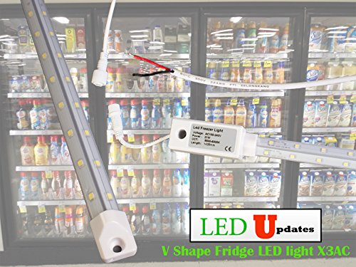 5ft V Shape walk in cooler Fridge LED Light Waterproof with built in driver direct AC input. (5 Ft Fridge compare prices)
