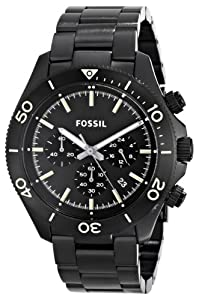 Fossil Men's CH2915 Retro Traveler Analog Display Analog Quartz Black Watch