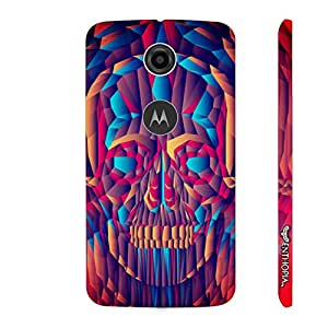 Motorola Moto E (2nd gen) Psychedelic Skull 2 designer mobile hard shell case by Enthopia