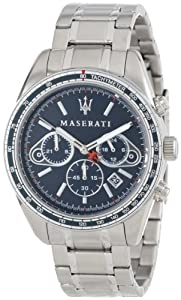 Amazon.com: Maserati Men's R8873602002 Plancia Blue Dial Watch