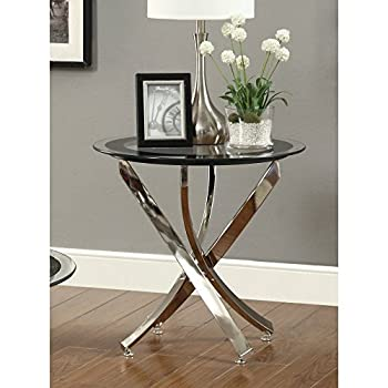 Coaster Home Furnishings 702587 Contemporary End Table, Chrome