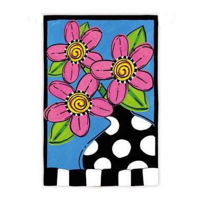 Whimsy Fleur Garden Flag Size: 18