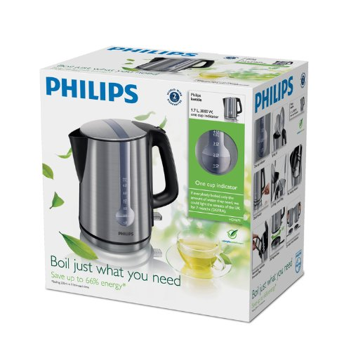 Philips HD4671/20 Brushed Metal Energy Efficient Kettle, 3000 Watt - 1.7 Litre at Shop Ireland