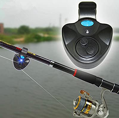 SUNNY-MARKET New 2015 Black Electronic LED Light Fish Bite Sound Alarm Bell Clip On Fishing Rod by SUNNY-MARKET