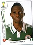 2014 Panini World Cup Soccer Sticker # 477 Kenneth Omeruo Team Nigeria