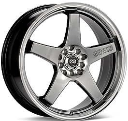 Enkei EV5, Performance Series Wheel, Hyper Black (18×7.5″ – 5×100 & 5×114.3, 45mm Offset) 1 Wheel/Rim