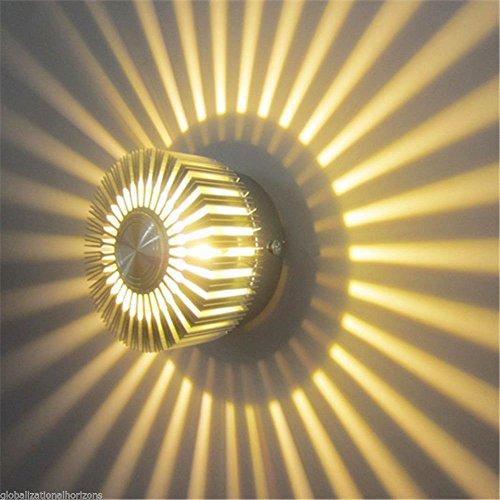 AC85V-265V moderno alluminio 3W Sun Flower Lampada da parete LED LED Indoor lampade,blu