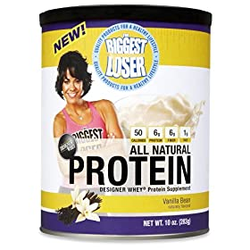 DESIGNER WHEY The Biggest Loser Protein Powder Supplement, Vanilla Bean, 10-Ounce Canister