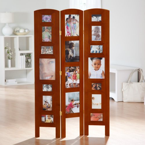 Standing picture frame room divider unique photo display for Room divider frame crafts
