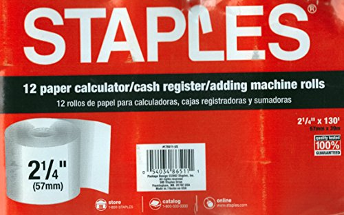 staples adding machine rolls