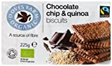 Doves Farm Organic Fairtrade Chocolate Chip and Quinoa Biscuits 225 g (Pack of 8)