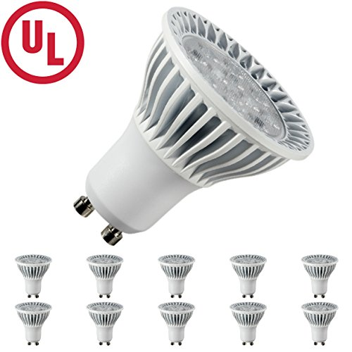 Hitlights 5 Watt Mr16/Gu10 Warm White Led Bulb 10 Pack - 10 Year Lifespan, Replaces 40 Watt - 3000K, 400 Lumens, 120V Ac