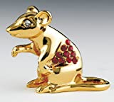YEAR OF RAT 24K Gold Swarovski Crystal Chinese Zodiac