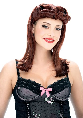 Pin Up Girl Auburn Wig - Adult Std. at Amazon.com