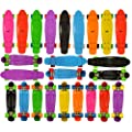 "Ridge Retro 22 Cruiser Skateboards | Vintage Style Mini Cruiser Complete Skateboard | High Quality 22"" x 6"" Plastic Deck, 59mm Wheels, High Performance Trucks 