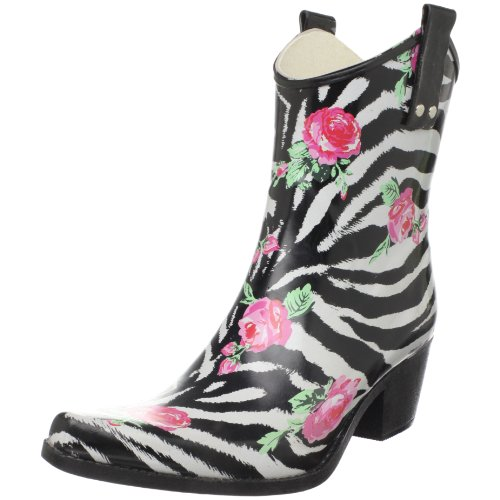Nomad Women'S Yippy Low Rain Boot,Rose Zebra,7 M Us front-321368