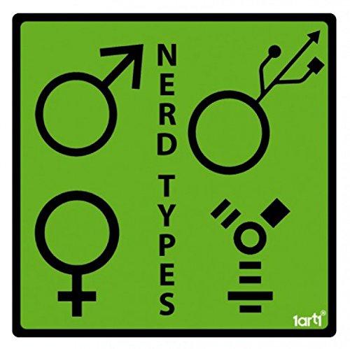Geeks - Nerd Types Sticker Adesivo (9 x 9cm)