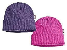 Baby Beanie Cap Hat Skull Cap Newborn Infant - Thermal Purple/Hot Pink - 0/3 m