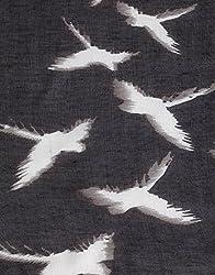 VB Woman's Scarf, elegant - bird-pattern